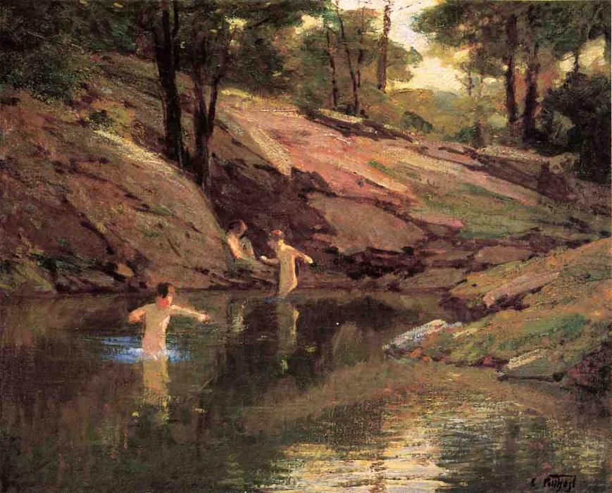 famous painting The Swimming Hole of Edward Henry Potthast