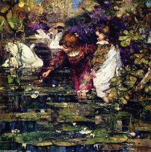 Edward Atkinson Hornel - The Swan Lake