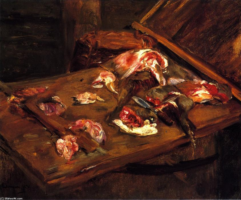 famous painting Table with Pieces of Meat of Max Liebermann