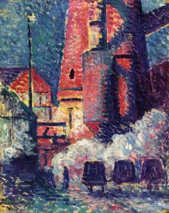 Maximilien Luce - Tall Furnaces