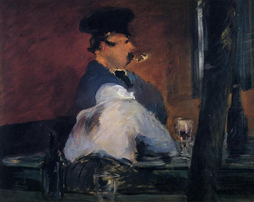 famous painting The Tavern (also known as Open Air Cabaret) of Edouard Manet