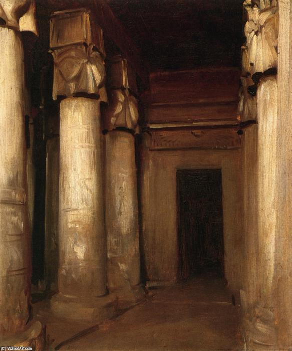 famous painting Temple of Denderah of John Singer Sargent