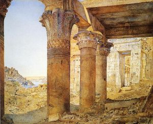 Henry Roderick Newman - Temple of Philae from the Outer Court