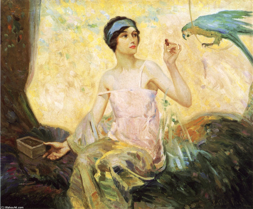 famous painting Tempting Sweets of Robert Lewis Reid