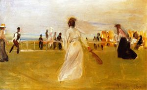 Max Liebermann - Tennis Game by the Sea