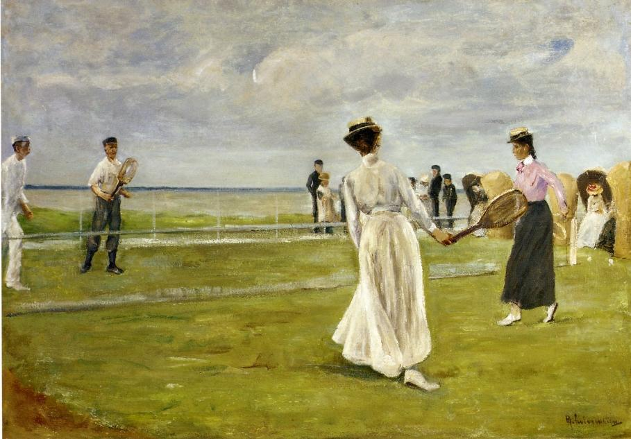 famous painting Tennis Game by the Sea of Max Liebermann