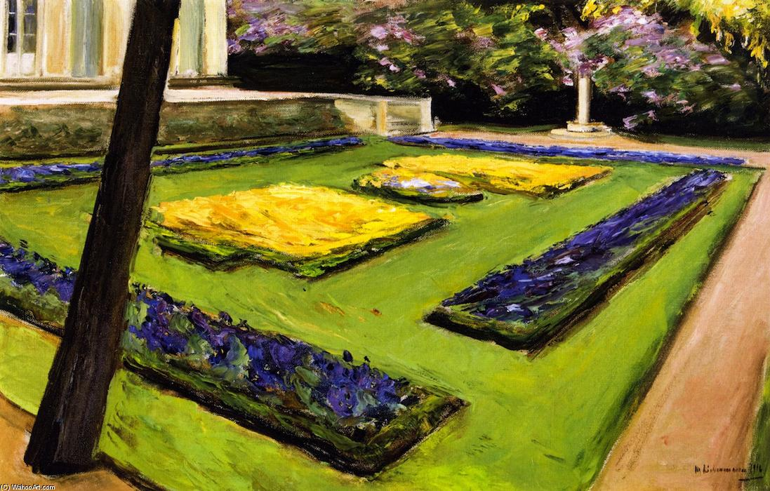 famous painting Terrace in the Garden near the Wannsee toward Northwest of Max Liebermann