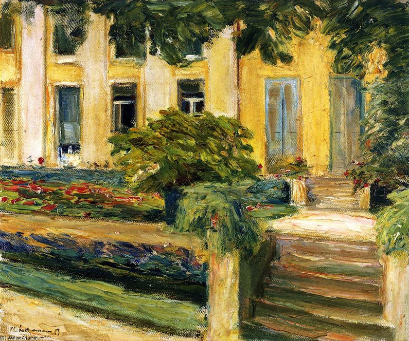 famous painting Terrace in the Garden near the Wannsee toward Southwest of Max Liebermann