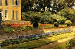 Max Liebermann - The Terrace in the Garden on Wannsee toward the Northwest, with the Villa on the Left