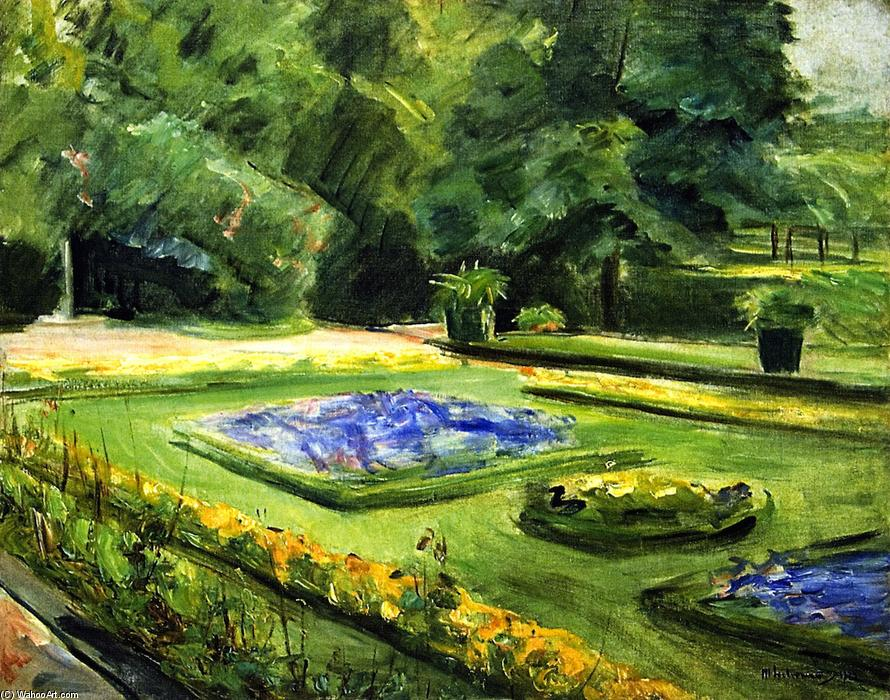 famous painting The Terrace in the Wannsee Garden toward the Northeast of Max Liebermann