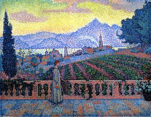 Paul Signac - The Terrace, Saint-Tropez