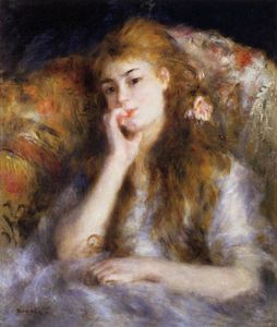 Pierre-Auguste Renoir - The Thinker (also known as Seated Young Woman)