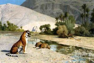 Jean Léon Gérôme - Thirst (also known as Tigress and Her Cubs)