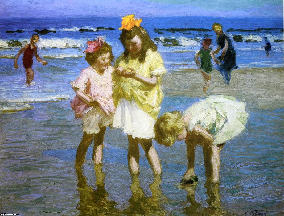 famous painting Three Girls at the Seashore of Edward Henry Potthast