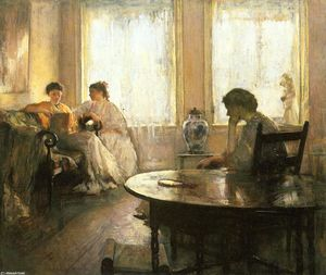 Edmund Charles Tarbell - Three Girls Reading