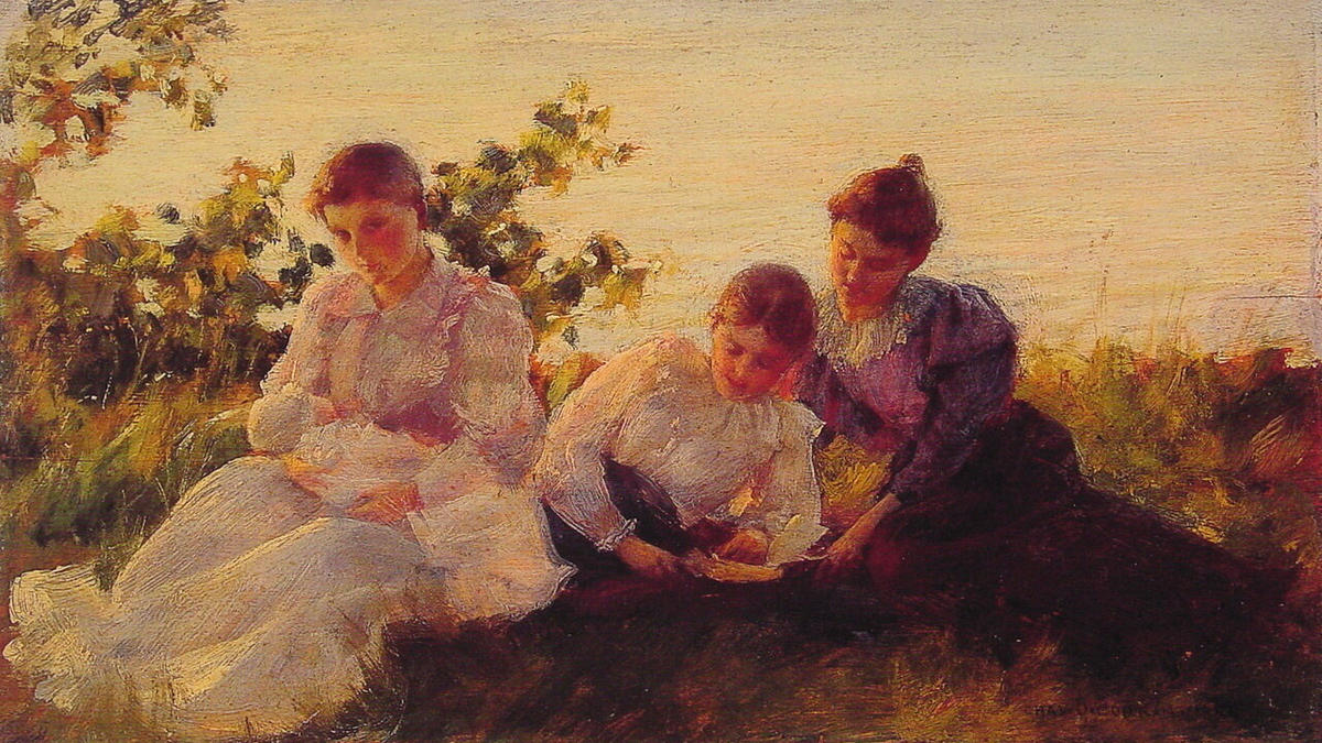 famous painting Three Women of Charles Courtney Curran
