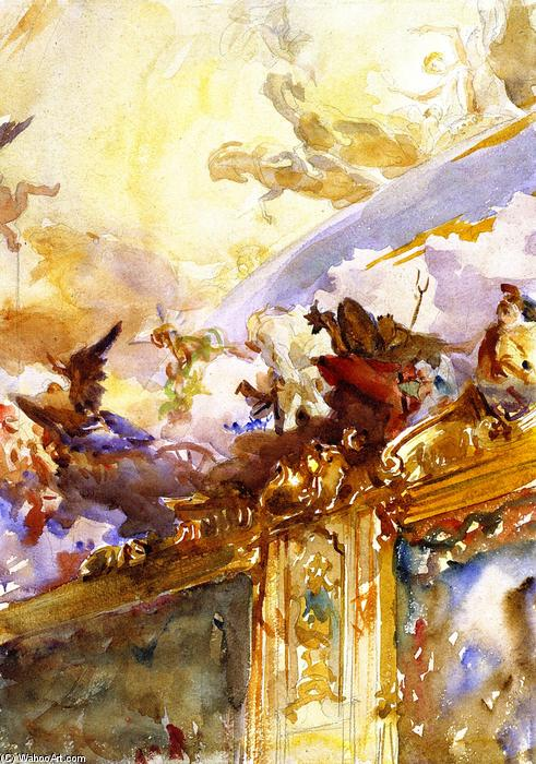 famous painting Tiepolo Ceiling, Milan of John Singer Sargent