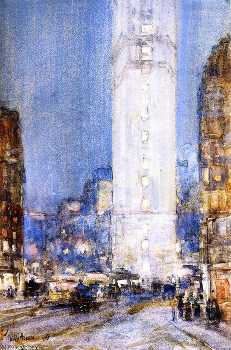 famous painting Times Square of Frederick Childe Hassam