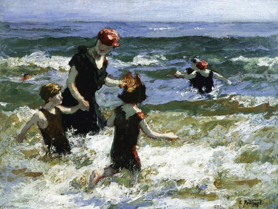 famous painting A Timid Bather of Edward Henry Potthast