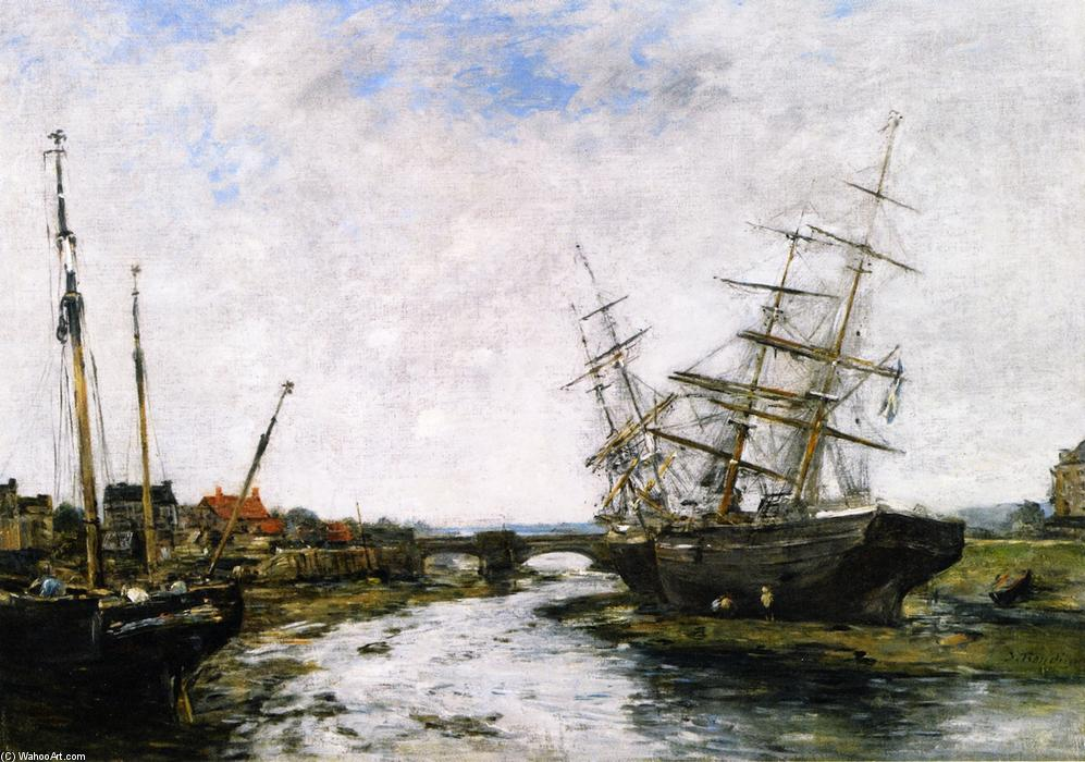 famous painting The Toques, Low Tide of Eugène Louis Boudin