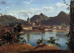Jean Baptiste Camille Corot - The Town and Lake Como