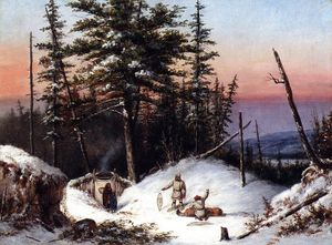 Cornelius David Krieghoff - Trappers on the Frontier