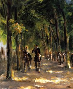 Max Liebermann - Tree-Lined Avenue with Two Horseback Riders