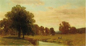 George Henry Smillie - Trees and Meadows of Berkshire
