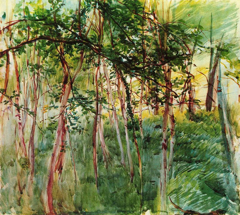 famous painting Trees in the Bois de Boulogne of Giovanni Boldini