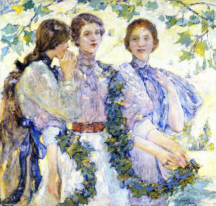 famous painting The Trio of Robert Lewis Reid