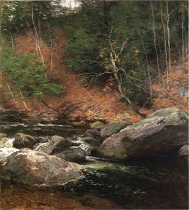 Willard Leroy Metcalf - The Trout Pool, November