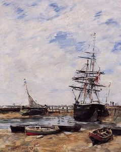 Eugène Louis Boudin - Trouville, Low Tide