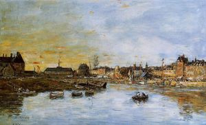 Eugène Louis Boudin - Trouville, the Port
