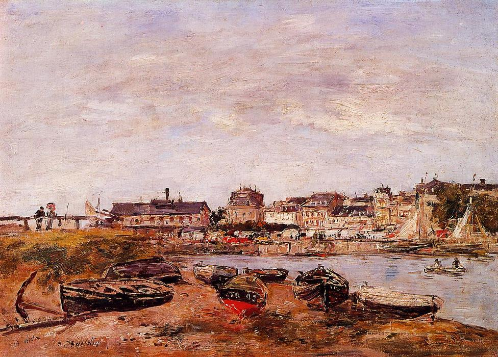 famous painting Trouville, the View from Deauville on Market Day of Eugène Louis Boudin