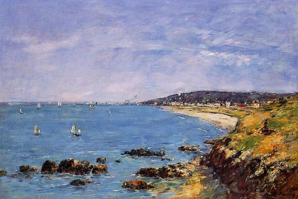 famous painting Trouville, View from the Heights of Eugène Louis Boudin