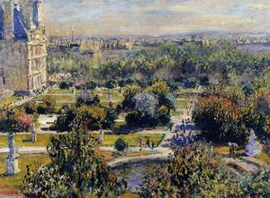 Claude Monet - The Tuileries (study)