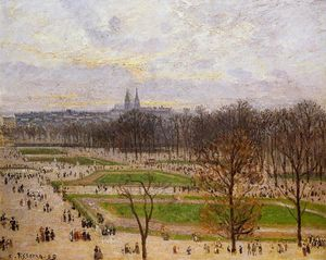 Camille Pissarro - The Tuilleries Gardens: Winter Afternoon