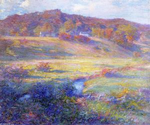 Robert Vonnoh - Turquoise, Rose and Gold