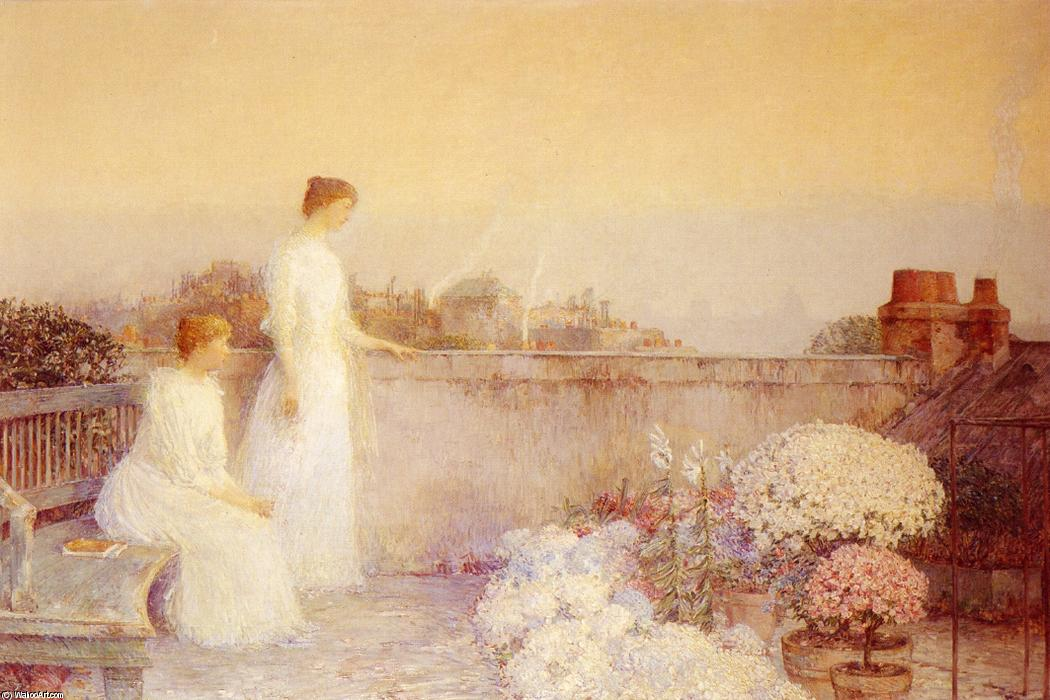 famous painting Twilight (also known as Le Crepuscule) of Frederick Childe Hassam
