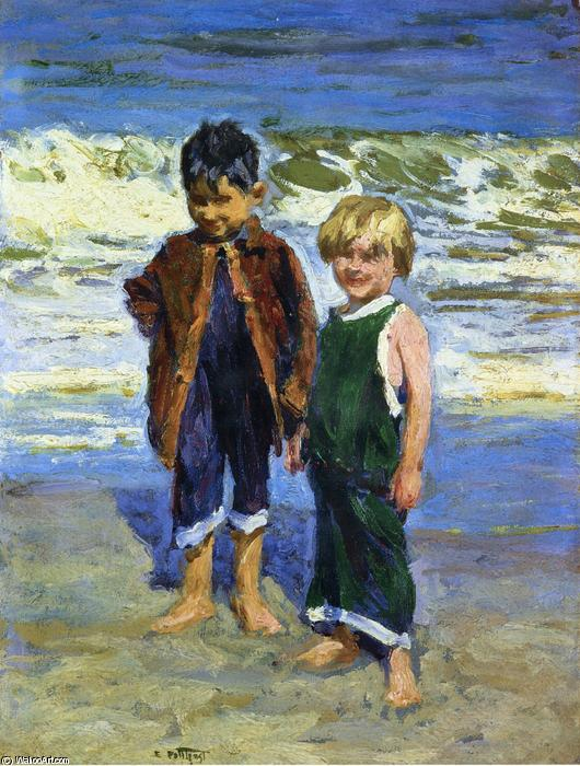 famous painting Two Boys of Edward Henry Potthast