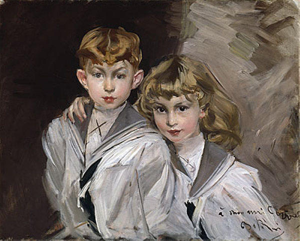 famous painting The two children of Giovanni Boldini