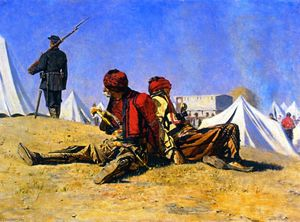 Vasily Vasilevich Vereshchagin - Two Falcons (also known as Bashibuzuki)