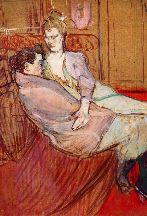 famous painting Two Friends of Henri De Toulouse Lautrec