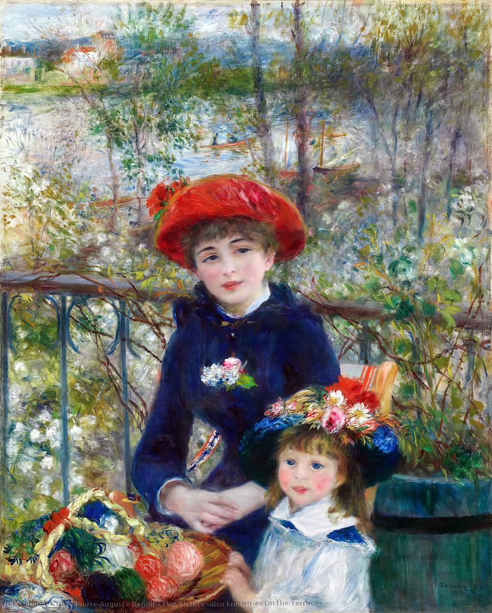 famous painting Two Sisters (also known as On the Terrace) of Pierre-Auguste Renoir