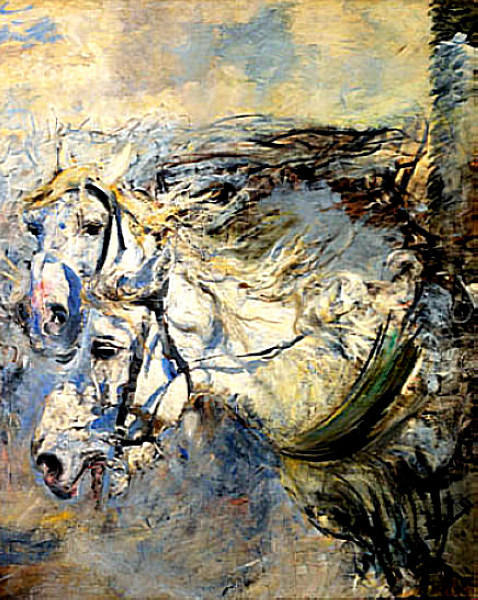 famous painting Two White Horses of Giovanni Boldini