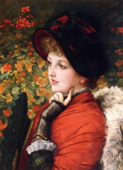 famous painting Type of Beauty (also known as Kathleen Newton) of James Jacques Joseph Tissot