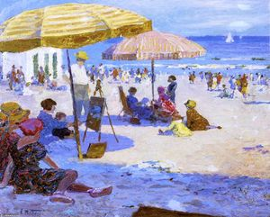 Edward Henry Potthast - Umbrellas and the Sun