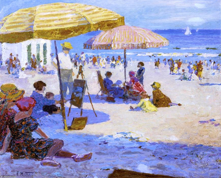 famous painting Umbrellas and the Sun of Edward Henry Potthast