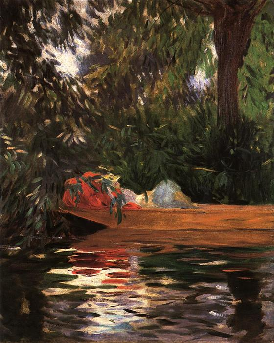 famous painting Under the Willows of John Singer Sargent