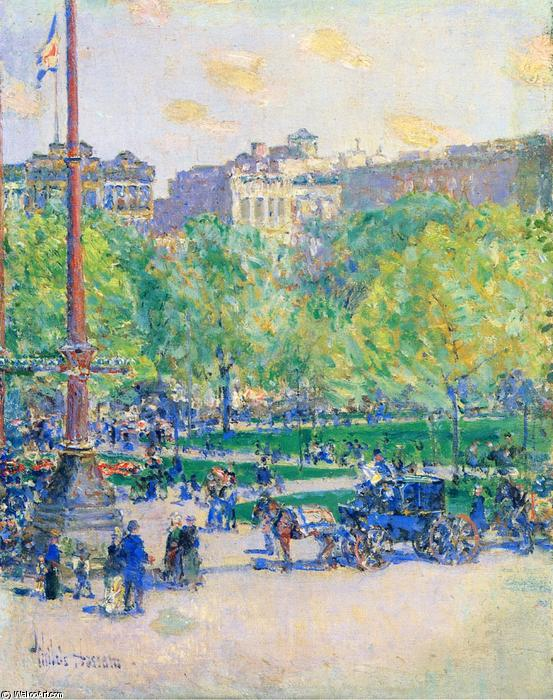 famous painting Union Square of Frederick Childe Hassam